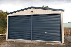facade of a garage
